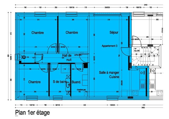 plan appartement 3 etage